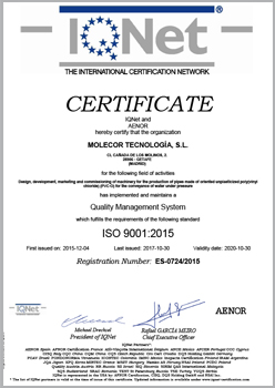 Certificate IQNet ISO 9001